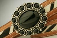 Terry Stack Belts & Buckles: Belt Buckle Stone Onyx Nickle Special Order