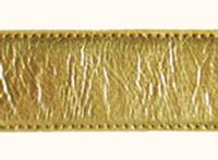 Terry Stack Belts & Buckles: Belt Strap Calf Leather Gold Special Order