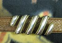 Terry Stack Belts & Buckles: Belt Buckle Classic The Wrap Nickle and Gold Tone