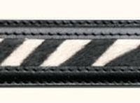 Terry Stack Belts & Buckles: Belt Strap Two Tone Hair on Hide Zebra S-2XL Special Order