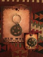 Colorado Silver Star Old West Badge: Texas Ranger Mini Keyring