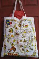 Tote Red and White Kitchen Tote: Texas SALE
