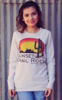 Original Cowgirl Clothing: Thermal Sunset Trail Rides Unisex XS-2XL