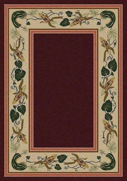 American Dakota Rug: Voices & New Enchota Collection Three Sisters Garnet 8x11 Drop Ship