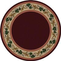 American Dakota Rug: Voices & New Enchota Collection Three Sisters Garnet 8' Round Drop Ship