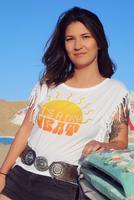 Original Cowgirl Clothing: Tee Crop It's A Dry Heat S-XL