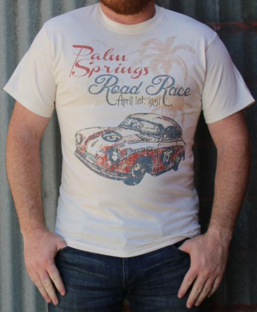 M&P Speed Shop Men's T-Shirt: Palm Springs Road Race Natural XS-4XL