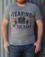 M&P Speed Shop Men's T-Shirt: Tearing Up The Road Gray S-2XL