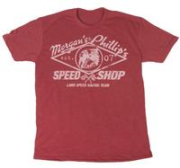 M&P Speed Shop Men's T-Shirt: Land Speed Racing Team Red Unisex XS-4XL