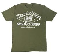 M&P Speed Shop Men's T-Shirt: Land Racing Team Olive Unisex XS-$XL