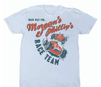 M&P Speed Shop Men's T-Shirt: M&P Race Team Light Blue XS-4XL