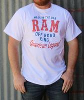 M&P Speed Shop Men's T-Shirt: RAM TRUCK Off Road King White XS-4XL