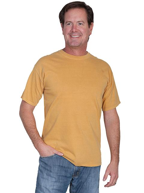 Scully Men's Tonto Rim Collection: T Shirt Cotton Mustard M-2XL