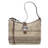 American West Handbag Trading Post Collection: Leather Large Zip Top Shoulder Bag