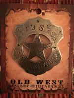 Colardo Silver Star Old West Badge: U.S. Marshal Shield