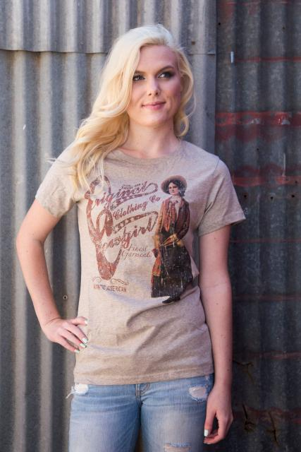 Original Cowgirl Clothing: Tee Vintage Cowgirl