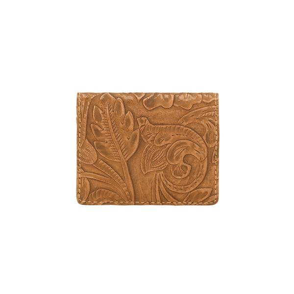 Bandana Handbag Wallet Collection: Amour Folded Wallet Tooled Tan
