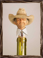 A Rockmount Ranch Wear Cowboy Bottle Stopper: The Old Flirt