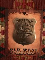 Colorado Silver Star Old West Badge: Western Atlantic R.R. Confederate States of America