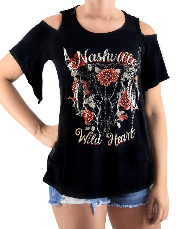 Liberty Wear T-Shirt: A Nashville Wild Heart