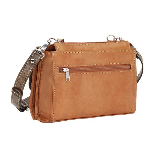 8192cdcb42 American West Handbag Desert Wildflower Collection  Leather Western Crossbody  Wallet Small Golden Tan ...