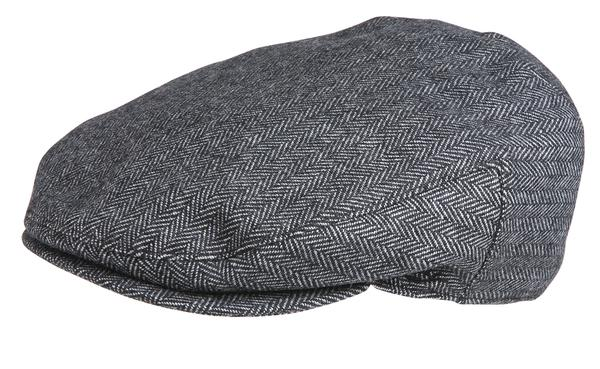 Conner Handmade Hats Cap: Alfred Gentlemans Driver Herringbone Grey S-XL