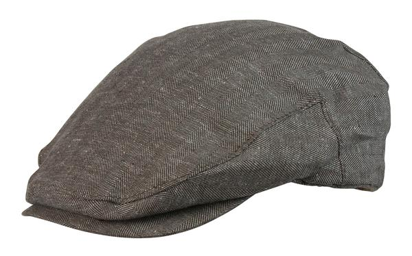 Conner Handmade Hats Cap: Bashford Newsboy Cap Cotton & Linen Brown S-XL