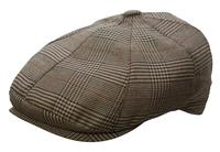 ZSold Conner Handmade Hats Cap: Oxford Newsboy Brown Plaid SOLD