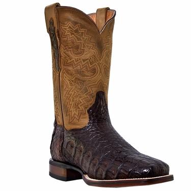 Men's Dan Post Boots Cowboy Certified Western Exotic: Cowboy Certified Caiman Denver Chocolate