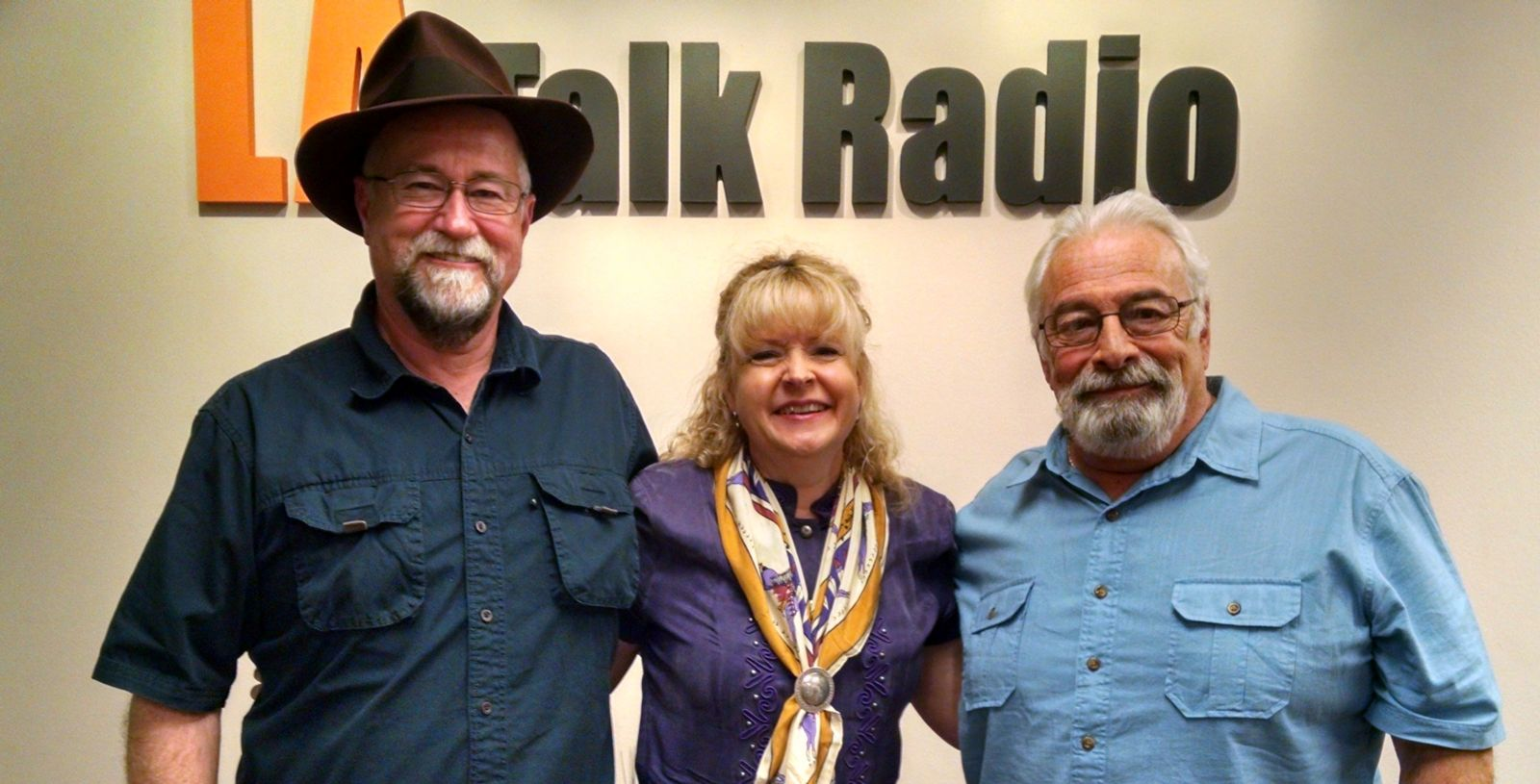 The Writer's Block Radio Show Hosts Jim Christina and Bobbi Bell with Guest J.R. Sanders